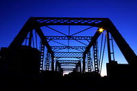 Geometrical Twilight - Blue Bridge, Grand  Rapids, MI